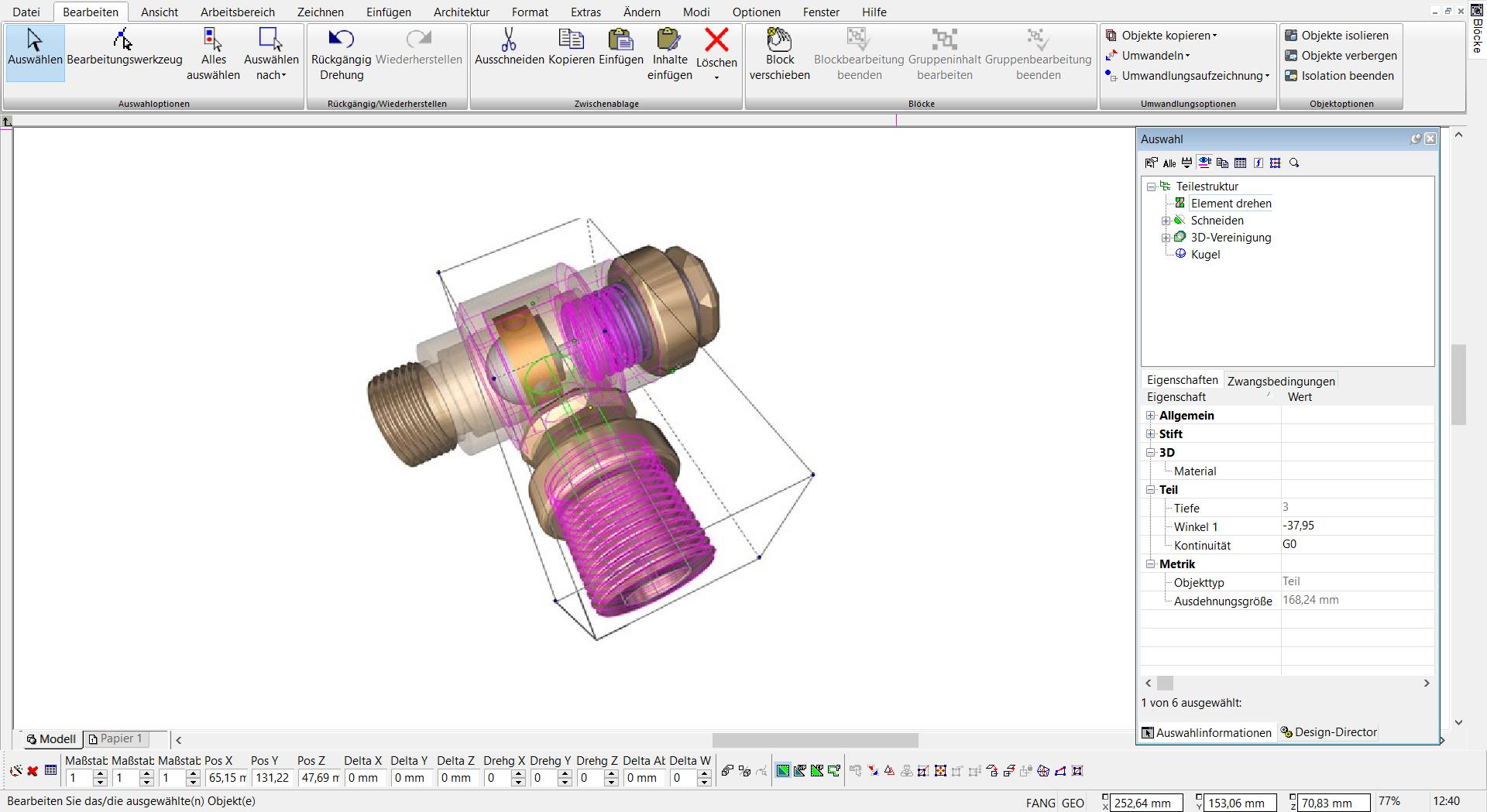TurboCAD Pro Platinum - Teilestruktur Volumengitter