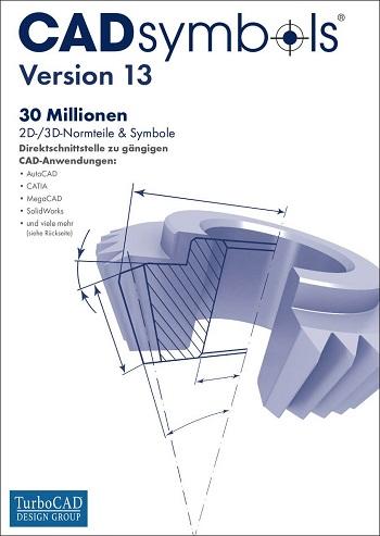 CADsymbols Version 13 - 2D/3D Normteile für CAD