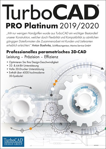 TurboCAD Pro Platinum 2019/2020 - CAD Software
