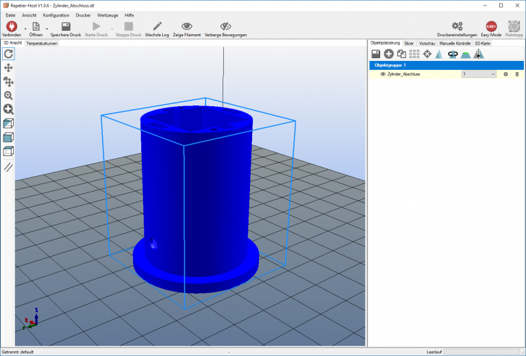 TurboCAD 3D Druck skizze
