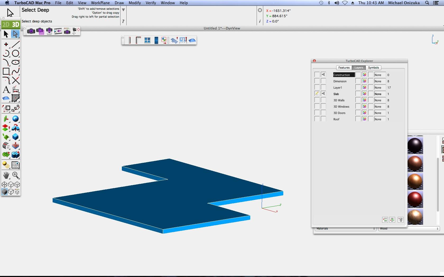 TurboCAD Mac Pro - Bodenwerkzeug