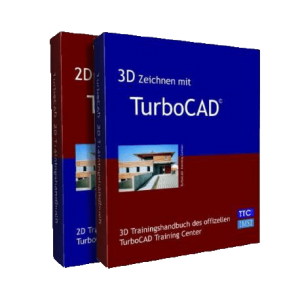 TurboCAD 2D 3D Trainingshandbücher im Set
